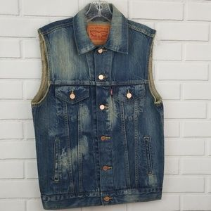 Levi's Sleeveless Denim Vest Jacket